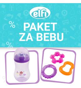 Promo paket ELFI - FLAŠICA + GLODALICA - za djevojčicu