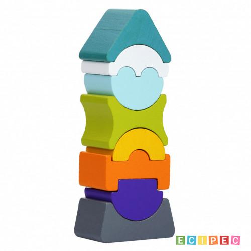 CUBIKA Drveni Balans Toranj (8 elemenata)