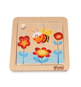 PINO Mini-slagalica 4 elementa Pčelica
