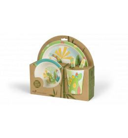 BIGBAMBOO Set za hranjenje od bambusa - DINO (5 djelova)