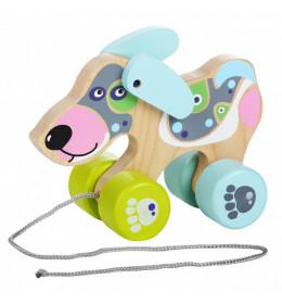 CUBIKA Drvena igračka na povlačenje - KUCA