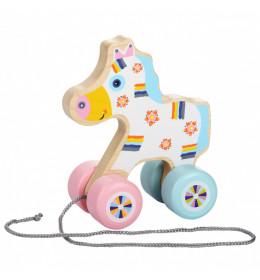CUBIKA Drvena igračka na povlačenje - KONJIĆ