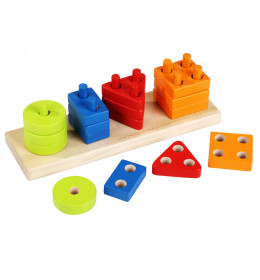 CUBIKA Drvena Igračka Geometrijski oblici (17 elemenata)