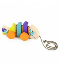CUBIKA Drvena igračka na povlačenje - RIBICA