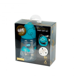 ELFI BABY EXCLUSIVE POKLON SET - plastična flašica sa silikonskom cuclom (250 ml)